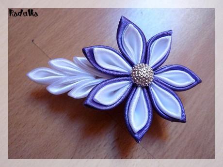 Kanzashi kvety postup